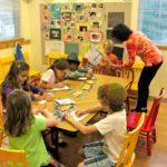 Jewish Religious School students at work